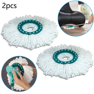 2PCS Microfiber Replacement Head Hands-free Rotating Mop Cloth For Leifheit Disc For Different Floor Coverings Or Soiling