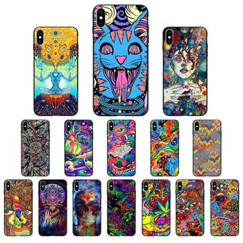 Babaite Psychedelic Trippy Art Phone Case for iphone 11 Pro Max X XS MAX 6 6s 7 8 Plus 5 5S 5SE XR SE2020 image
