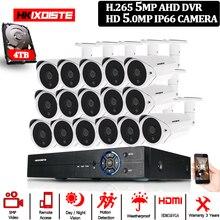 H.265 5MP 16CH AHD DVR Kit Onvif 16Pcs 5,0 MP CCTV System Security Analog Kamera Volle HD 5MP In /outdoor Video überwachung Kamera