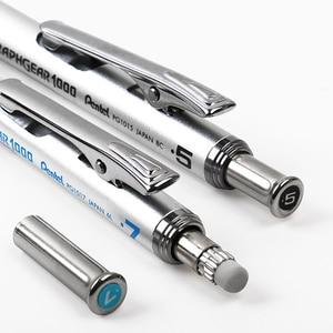 Image 4 - 1pcs פנטל GraphGear 1000 ציור מכאני עיפרון תלמיד שימוש לא קל לשבור עופרת עיפרון מכאני 0.3 0.5 0.7 0.9mm