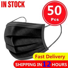 Mask Mascarillas Protective 3-LAYER-FILTER-MOUTH-MASKS Disposable Adult Breathable 50PCS