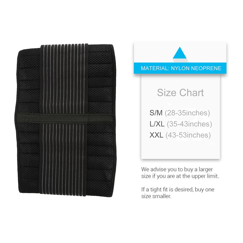 OUTAD Black Breathable Nylon Neoprene Double-Pull Lumbar Support Belt For Ultimate Protection Freedom Movement