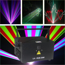Free Shipping 30W RGB ILDA Computer Animation Laser DMX DJ Professional Stage Lighting(China)
