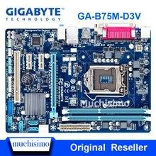 Оригинальная восстановленная Материнская плата Gigabyte GA-B75M-D3V LGA 1155 DDR3 B75M-D3V 16GB USB2.0 USB3.0 B75