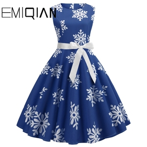 Image 1 - Fashion Women Floral Print Sleeveless Party Dress Simple Knee Length Print Graduation Dress