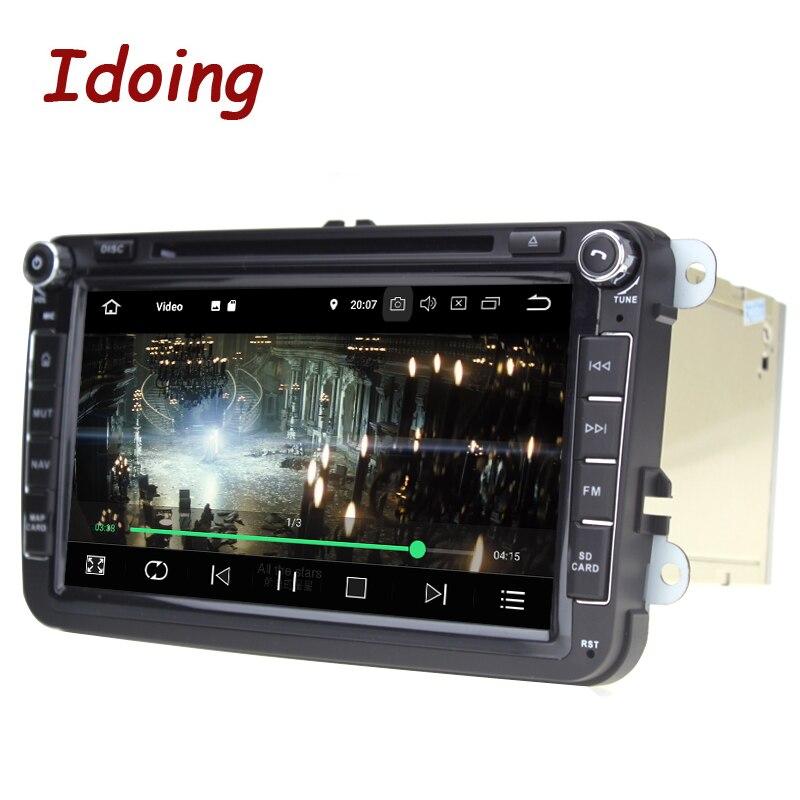 "Image 3 - Idoing 8"" 2 din Car Android 10 Radio Player Universal For VolkswagenSkoda Seat 4G+64G Octa Core IPS GPS Navigation MultimediaCar Multimedia Player   -"