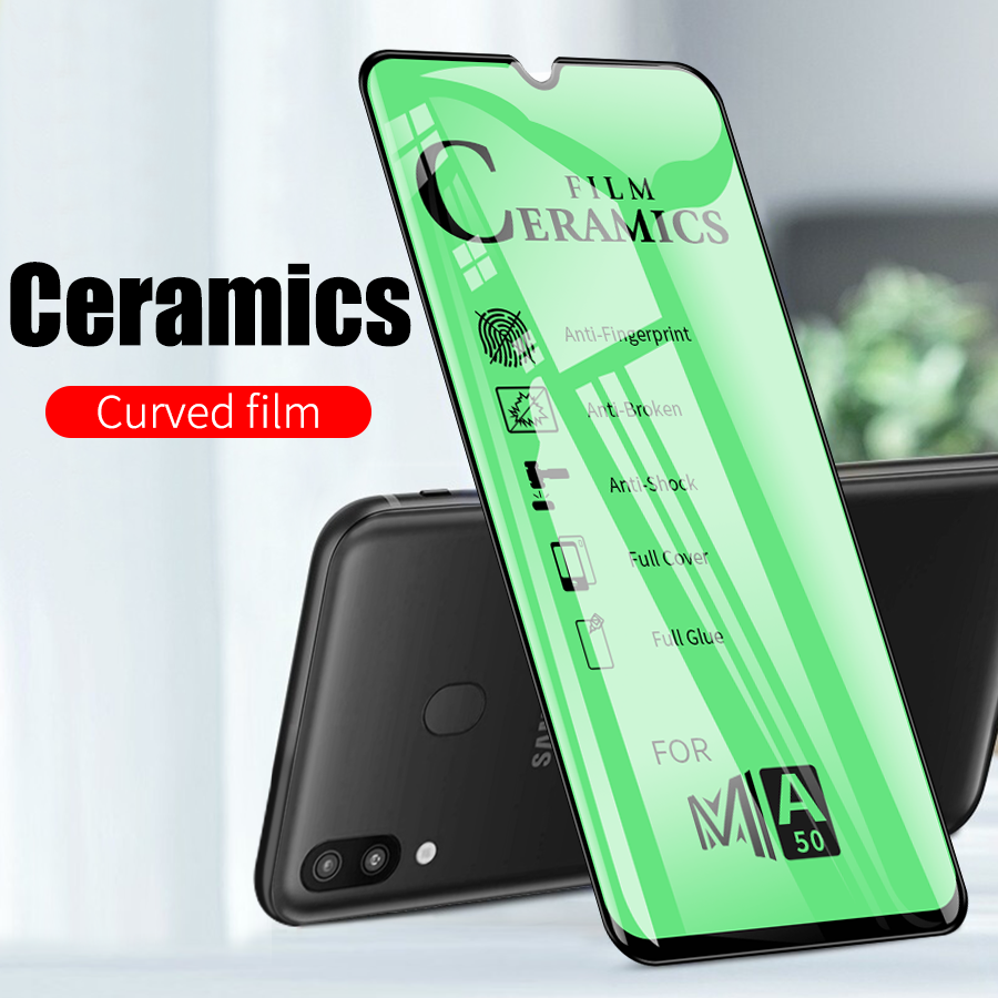 Full Cover Soft Curved Ceramic Screen Protector For Samsung Galaxy A50 A50s A70 A10 A20 A30 A30s A40 M10 M20 M30 M30s M40 film