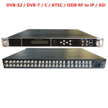 цена на 24 Tuner to IP, ASI All-in-One  DVB-S2 / DVB-T / C / ATSC / ISDB RF to IP / ASI Gateway  Hotel TV system equipment