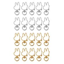 10Pcs Cute Rabbit Keychain Metal Swivel Lobster Clasp Snap Hook Jewelry Findings цена