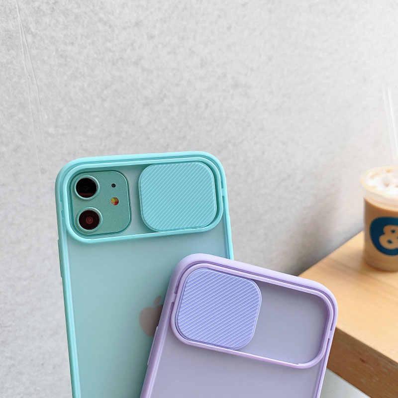 غطاء حماية عدسة الكاميرا لهاتف آيفون 11 برو ماكس 8 7 6 6s Plus Xr XsMax X Xs SE 2020 لون الحلوى غطاء خلفي ناعم هدية