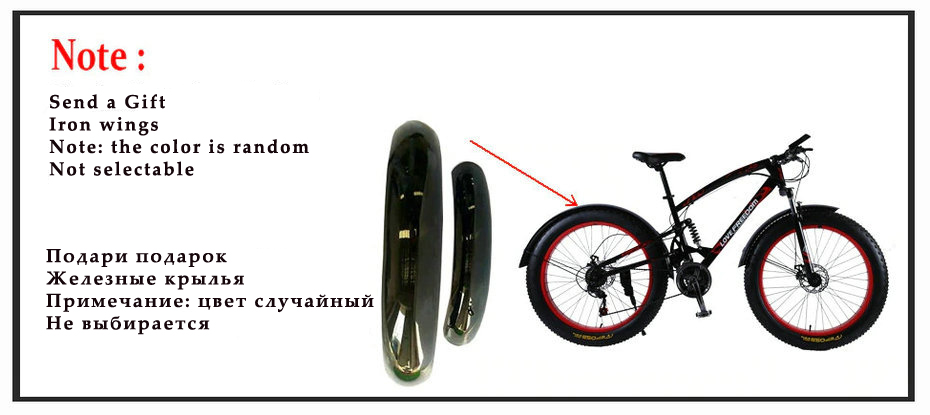 H89ed0c8e74bf40a6b1042800da269be7F Love Freedom High Quality Bicycle 7/21/24/27 Speed 26*4.0 Fat Bike Front And Rear Shock Absorbers double disc brake Snow bike