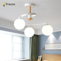 Modern LED Ceiling Lights Grass Lampshade for Living room Bedroom White Black Gray Aluminum boby indoor plafond Lamp flush mount
