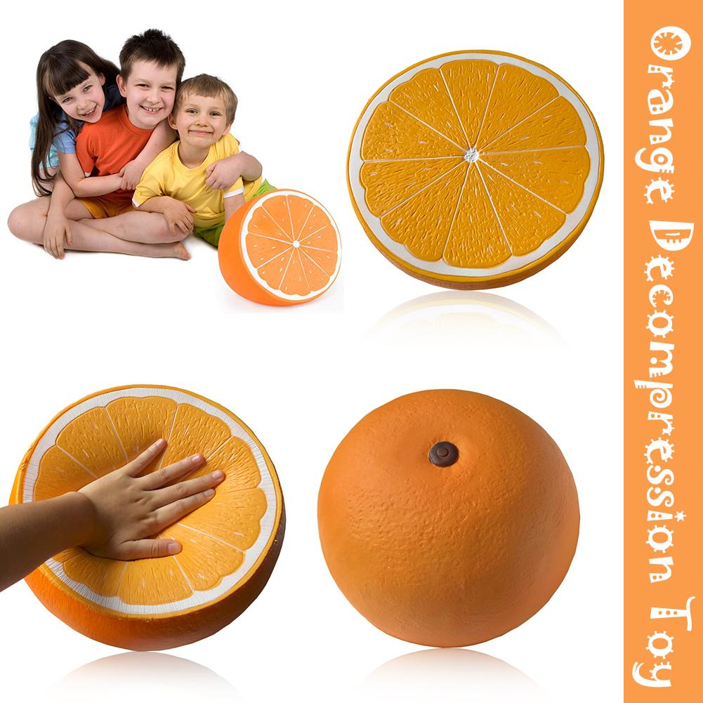 Squeeze Jumbo Squishies Orange Slow Rising Scented Stress Relieve Toy Big Fruit Skuishy Antistress Fidget Toy For Children