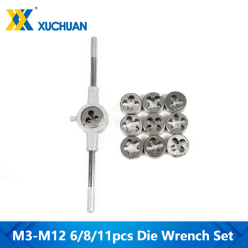 6/8/11pcs M3-M12 Metric Die Wrench Set  Hand Tapping Kit Screw Thread - discount item  5% OFF Hand Tools