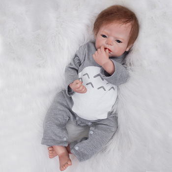 Hot Sale Rebirth Infant Doll Simulation Baby Doll Soft Silicone Reborn Dolls Baby Gifts Training Infant Clothing Model Doll 55cm full silicone body rebirth crooked mouth doll simulation rebirth toddle baby doll toys children birthday presents