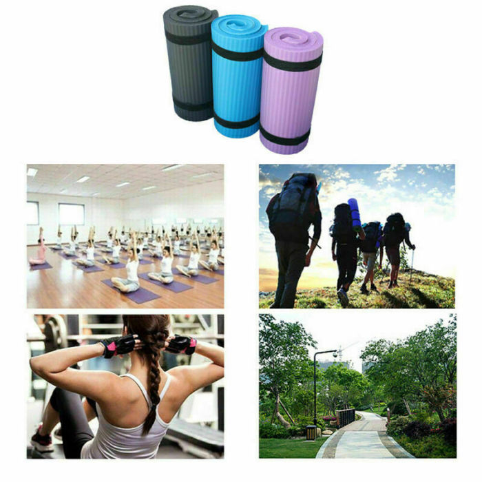 15mm Extra Thick High Quality Non-slip Yoga Mat Pad Exercise Fitness Pilates  3