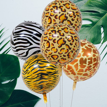 Animal Printed Tiger Zebra Leopard Foil Balloon Jungle Theme Helium Balloons Birthday Earth Day Safari Party Zoo Theme Supplies