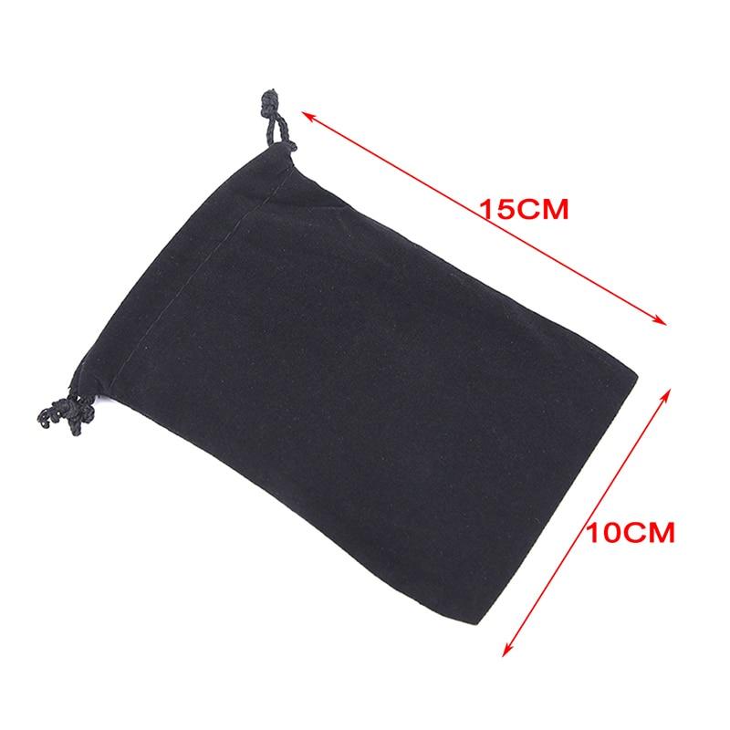 1pcs Tarot Card Velvet Bag 10x15cm Drawstring Bag Black Jewelry Bag Bag Chess Game Bag