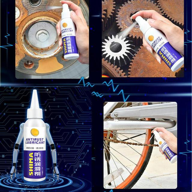 100ml Rust Inhibitor Rust Remover Window Wheel Hub Screw Derusting Spray Car Maintenance Cleaning 5