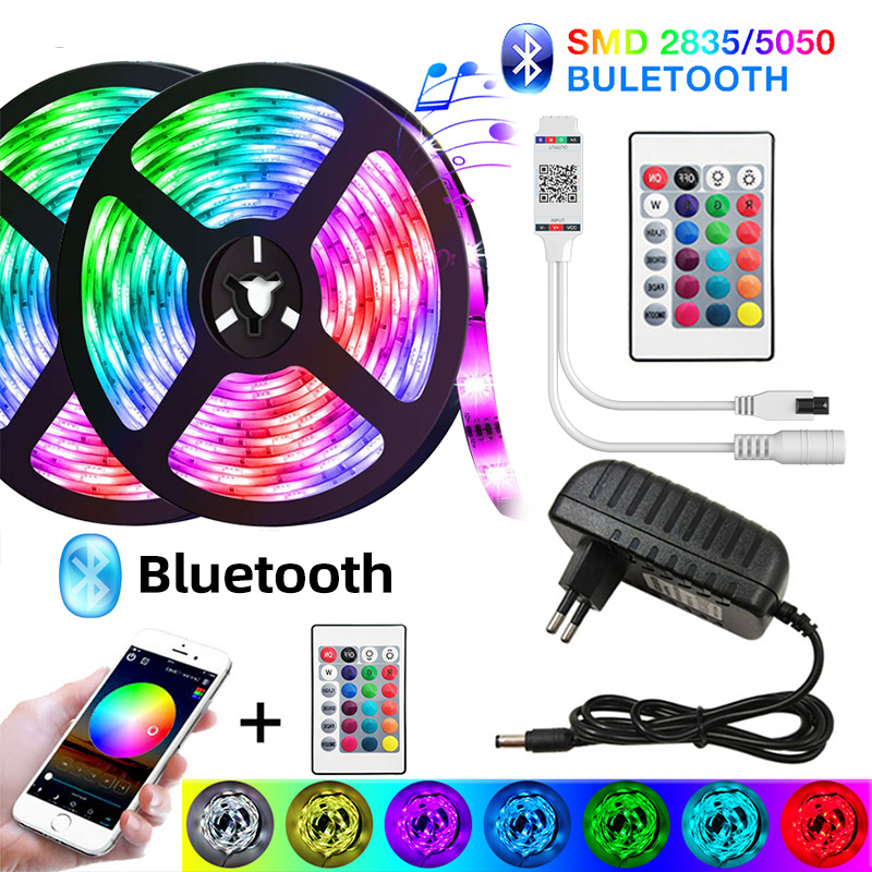 Led lights strips RGB strip SMD 5050 2835 Waterproof 5M 10M 15M 20M Luces DC 12V Power LED for Room Tape Neon Ribbon Full Set