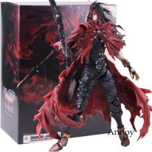 Dirge of Cerberus Final Fantasy VII Play Arts Kai Vincent Valentine Figure Action PVC Final Fantasy 7 Collectible Model Toy цена