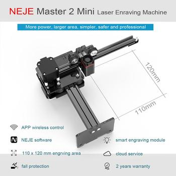 NEJE Master 2 Mini Desktop CNC Wood Router Laser Engraver Cutter  Engraving Machine APP Control for Windows, Mac , Android neje master 3500mw high speed mini cnc laser engraver for metal engraving carving machine laser cutting engraving machine