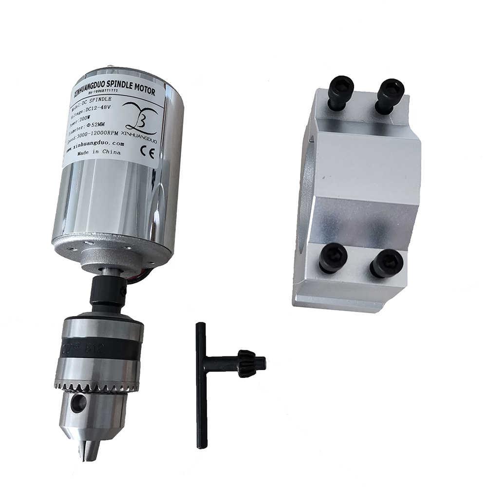Гравировальный станок, 200 Вт, шпиндель постоянного тока, кВт, с воздушным охлаждением, мотор шпинделя и кронштейн, 1 комплект, длинный рот, подтяжка, 1,5 мм-10 мм