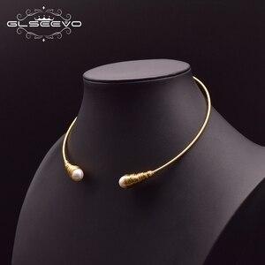 Image 3 - Glseevo natural água doce barroco pérola gargantilhas colar para mulheres colares de luxo colar de jóias finas hombre colar gn0048