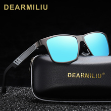 DEARMILIU Unisex Aluminum Polarized Lens Sunglasses Men Mirror Driving Sun Glasses Square Eyewear Accessories shades 6560 цена 2017
