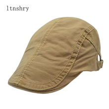 2019 new women men cotton Visors spring summer embroidery beret hat adjustable newsboy hats solid vintage male flat cap