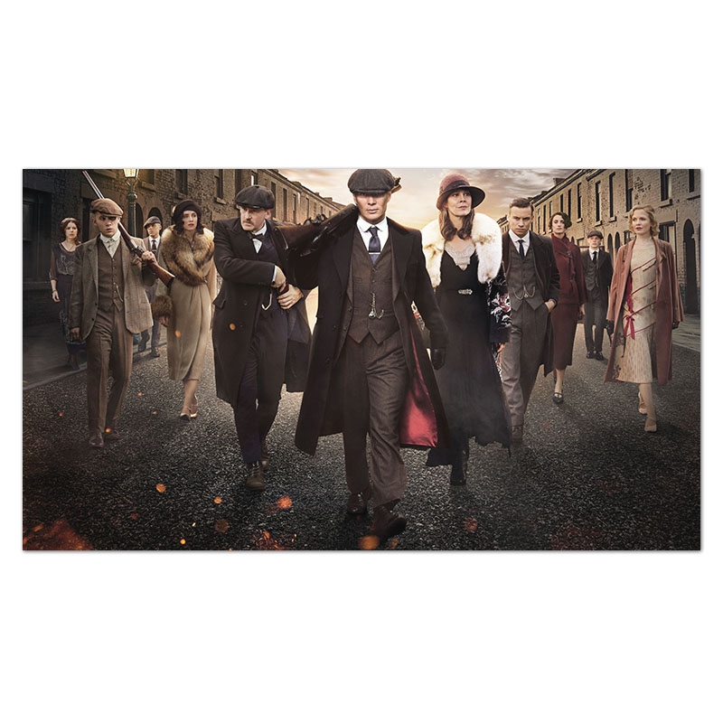 Popular Criminal Movie <font><b>Poster</b></font> <font><b>Gangster</b></font> TV Series Peaky Blinders <font><b>Posters</b></font> Prints Room Decorative Wall Art Pictures 50x90cm image