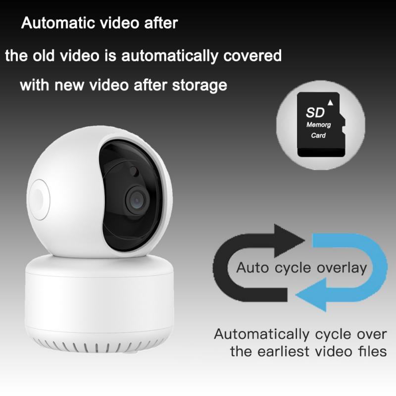 Intelligent Automatic Tracking Wireless Remote Cloud Storage Camera Network Shaking Head Machine Smart Baby Surveillance Camera
