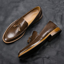 Zapatos informales de lujo para hombre, mocasines cómodos a la moda, de cuero, 7 ~ 12, # AL701, 2021
