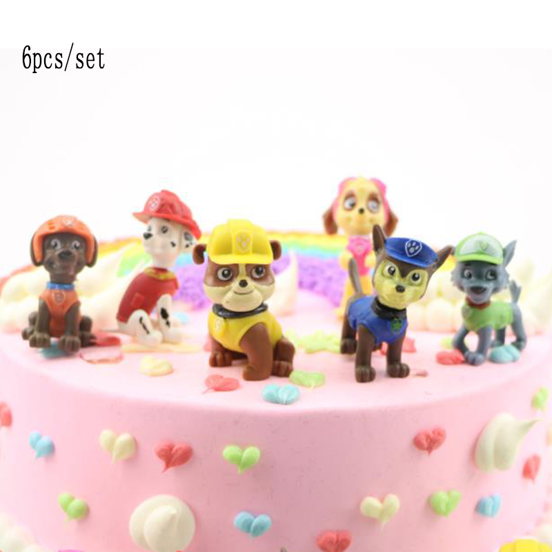 6pcs/lote Paw Patrol Patrulla Canina Psi Patrol Patrulha Pata Anime Action Figures Juguetes Puppy Toy Patroling Canine Toys Set