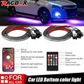 4x Auto Underglow Flexible Streifen LED Remote /APP Control RGB LED Streifen Unter Automobil Chassis Rohr Unterboden-system Neon licht