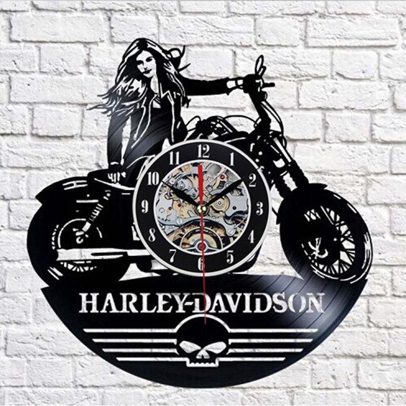 Motorcycle Gramophone Record Hanging Clock Wish EBay Amazon Hot Selling Hot Selling Models(China)