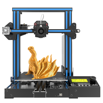 geeetech 3d printer a10t 3 in 1 out mixed property upgrade gt2560 v4 0 controlboard 220x220x250mm lcd2004 fdm ce GEEETECH 3D Printer A10  Fast Assembly  0.4mm nozzle 220*220*260MM 180mm/s Filament Sensor PLA  LCD2004 with FDM CE