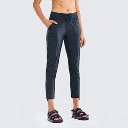 Женские брюки для бега в полоску Go to Studio, зауженные брюки с карманами, 27 дюймов