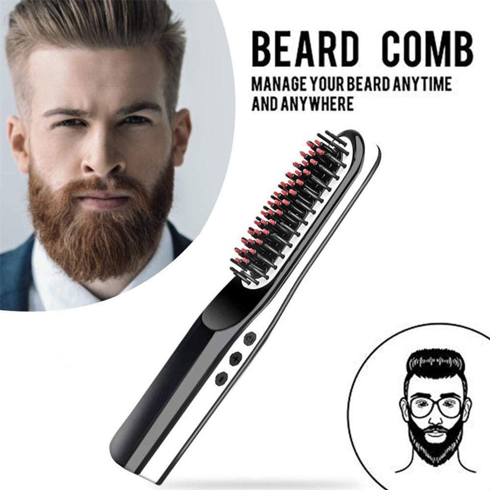 Multifuncional alisador de cabelo escova de barba