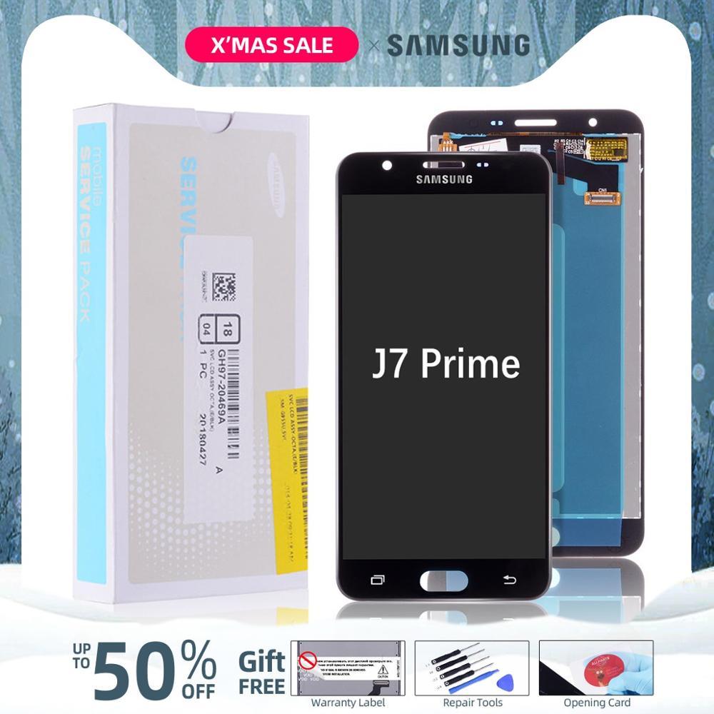 5.5'' Original Display For SAMSUNG Galaxy J7 Prime LCD Touch Screen  G610 G610F G610M For SAMSUNG J7 Prime 2016 LCD