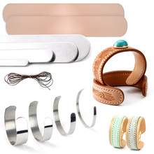 Bracelet-Making-Materials-Set DIY Genuine-Cow-Leather Wristband Waxed-Thread Inner-Core