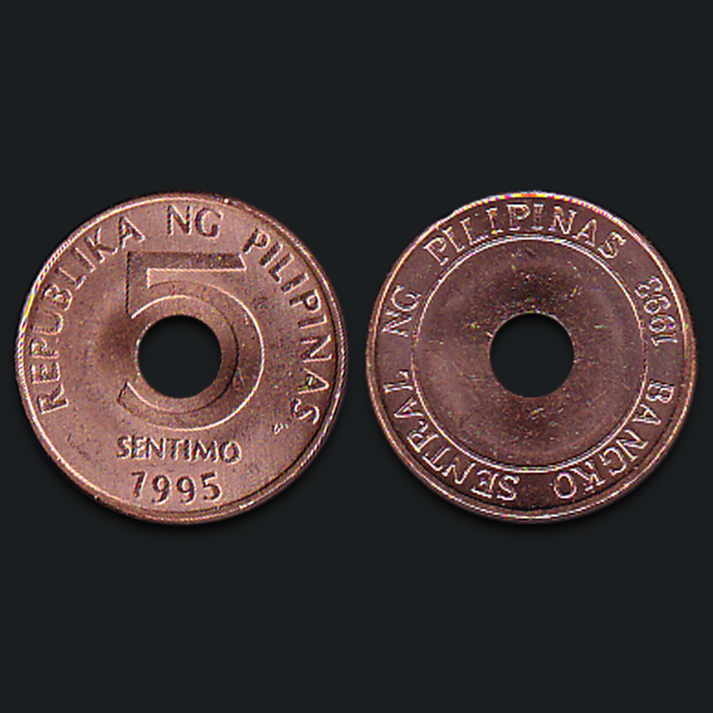 Philippines 5 Centimes New Genuine Original Coins 100% Real Issuing Coins Unc