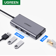 Ugreen USB C HUB Ethernet USB C to Multi USB 3.0 RJ45 Network Adapter Dock for MacBook Pro USB3.0 3.1 Splitter Port Type C HUB