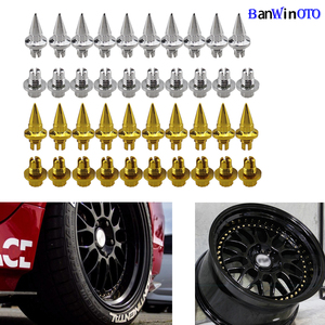 Image 2 - 25pcs/set Brand New Plastic Spike Car Wheel Rivets For Wheel Rims Cap Lip Screw Bolt Tires Car Styling Tunning LGMD001 JT&P