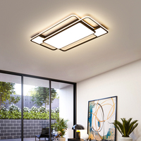New Square/rectangle Modern Led Ceiling Lihgts For Living Room Studyroom Bed Room Lights Black Led Ceiling Lamp Light Fixtures