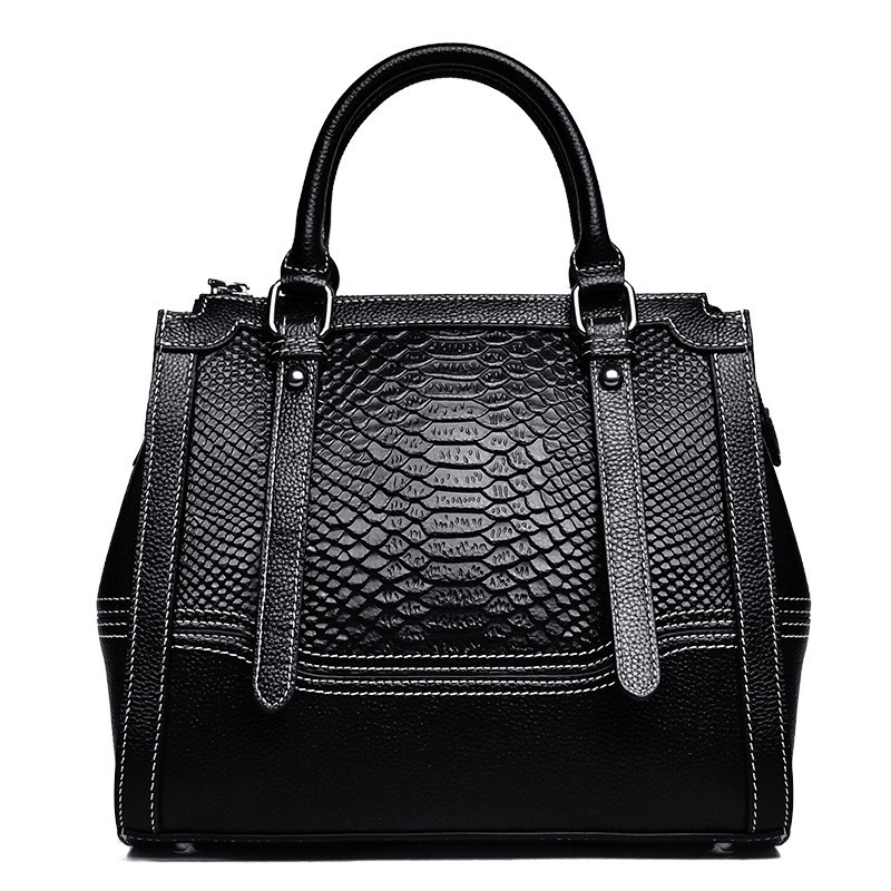 Crocodile Pattern Genuine Leather Ladies Shoulder Bag Handbags Large-Capacity Fashion Women Totes Bag Handbag Crossbody Bag