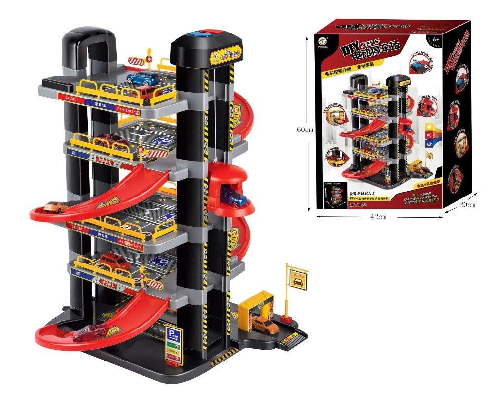Auto Giocattolo pista Illuminazione Suono E La Luce di Musica di Sollevamento Elettrico Super Parcheggio Sollevamento Automatico educativi Per Bambini giocattolo regalo - 3
