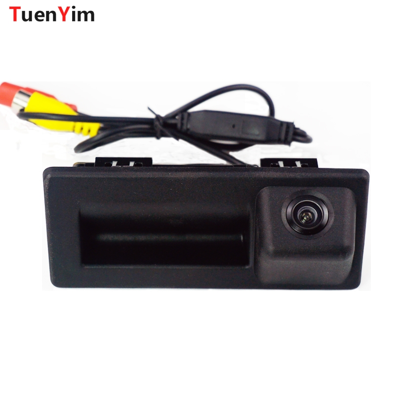 CCD Car rear view reverse camera for Audi A4L 2017/Volkswagen Touran 2016 trunk handle switch camera wire wireless waterproof|car rear view reverse|trunk handle|car rear reverse camera - title=