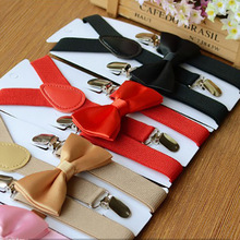 Kids Suspenders With Bowtie Fashion Children Bow T