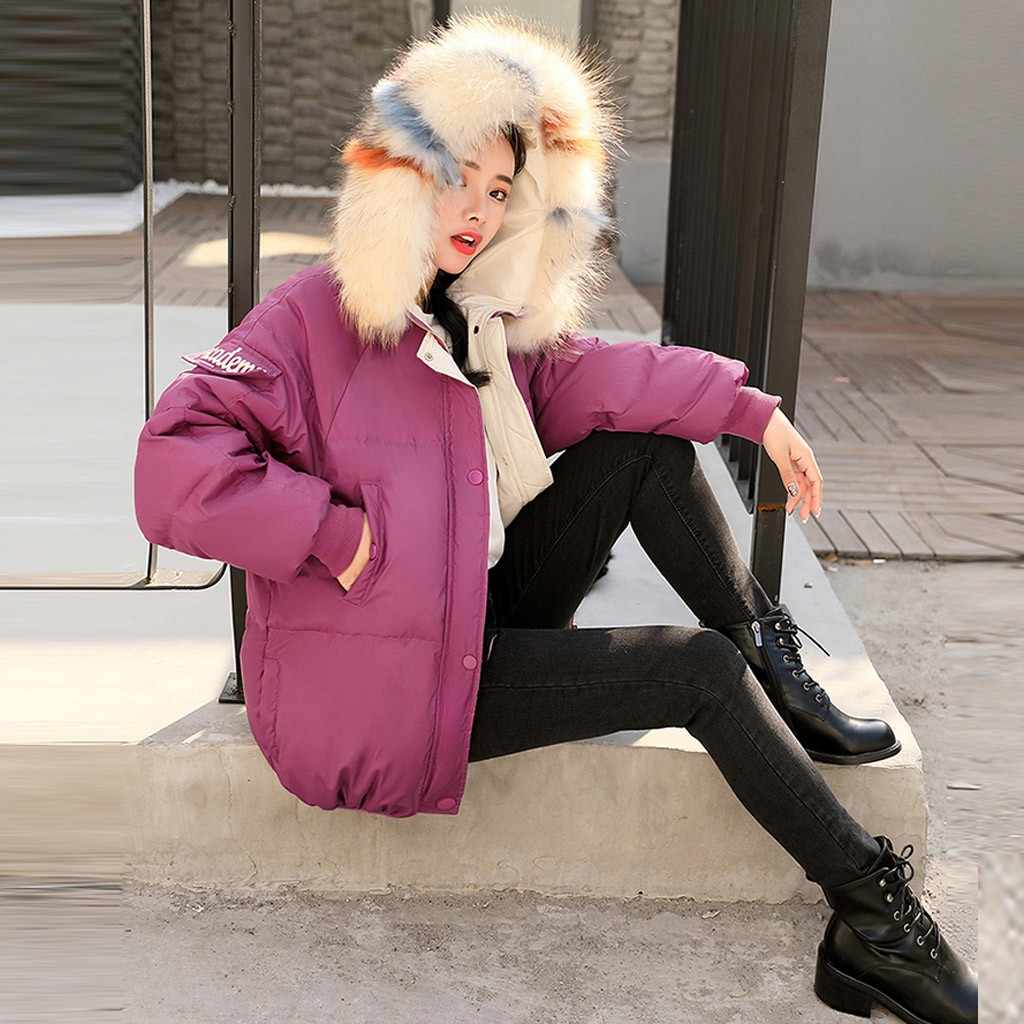 Frauen Winter Jacke 2019 Mit Kapuze Plus Größe Mit Pelz Kragen Warmen Dicken Parka Baumwolle Padded Weibliche Mode Frauen Mantel # j30
